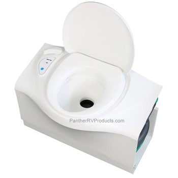 Thetford C402CL RV Self-Contained Cassette Toilet - Electric Flush - LH Cassette