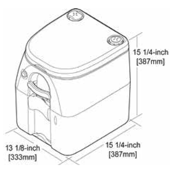 Dometic 301097606 Portable Toilet 970 Series Porta Potti - 5 Gal