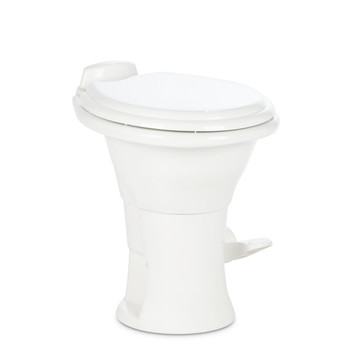 Dometic™ Sealand 310 RV Bathroom Toilet - Porcelain - Foot Flush - White