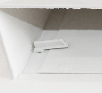 Ventline V2111-13 Exterior Wall Vent for RV Range Hood - Polar White