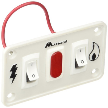 Atwood 91230 Water Heater Dual Panel Power Switch - White
