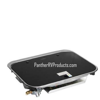 Dometic™ SMEV PI8022US 2-Burner RV / Marine Propane Cooktop w/ Glass Lid