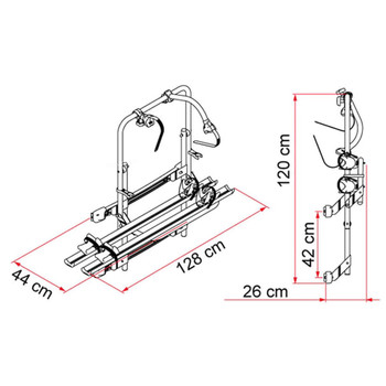 Fiamma  02093A93 Mercedes Sprinter Door Mount Aluminum Bike Rack