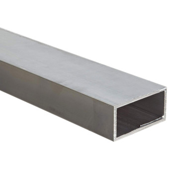 "Aluminum Rectangular Tubing 1"" x 2"" x 8 ft  062 Multipurpose 6061 Extruded"