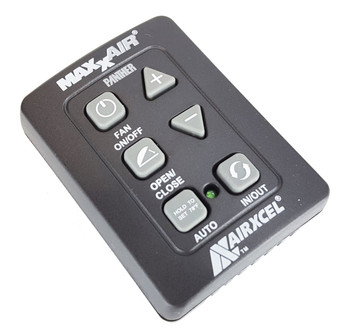 Maxxair 00A03650KIT RV Roof Fan 6-Button Wall Control - Black