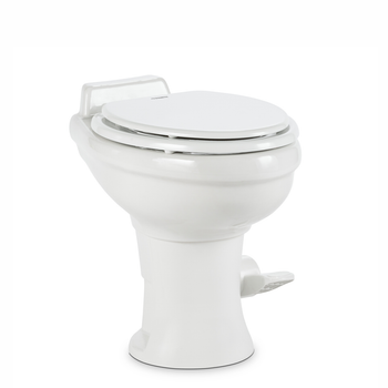 Dometic™ Sealand 320 RV Bathroom Toilet - Porcelain - Foot Flush - White