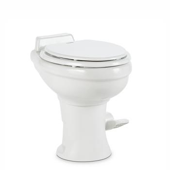Dometic™ Sealand 320 RV Bathroom Toilet - Porcelain - Foot Flush - White