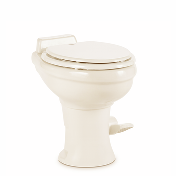 Dometic™ Sealand 320 RV Bathroom Toilet - Porcelain - Foot Flush - Bone