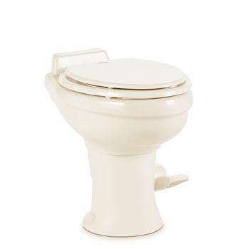 Dometic™ Sealand 320 RV Bathroom Toilet - Porcelain - Foot Flush - Bone