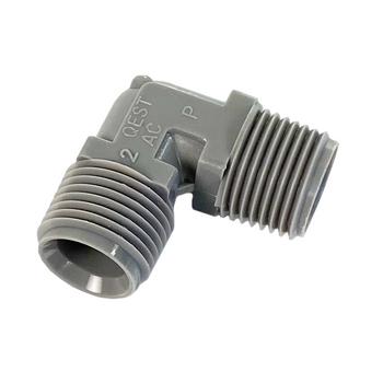 """Zurn Pex QE33T Plastic 90° Elbow Fitting 1/2"""" MPT x 1/2"""" MPT"""