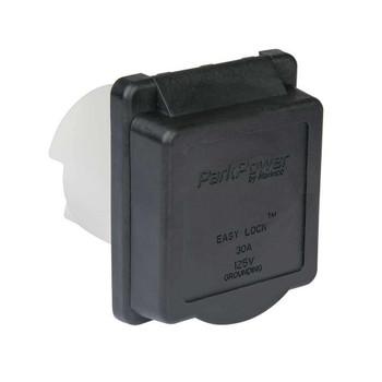 ParkPower 30ARVIB RV Power Plug Inlet 30A / 125V - Black
