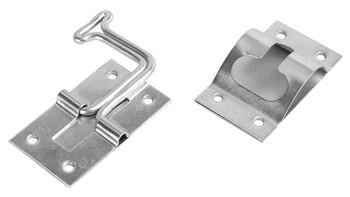 RV Designer E277 Entry Door Holder - Stainless Steel - 90 Degree