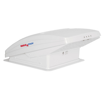Maxxair 00-05301k MaxxFan Deluxe RV 12V Roof Vent - White - Manual Opening - Ceiling Controls
