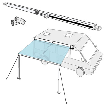 Fiamma® 98655A007 OEM RV Awning Center Rafter Tensioner Arm