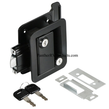 Wesco 43610-06-SP RV Paddle Entry Door Lock Latch with Deadbolt