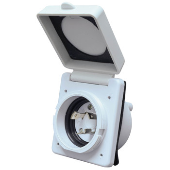 Valterra A10-30INVP RV Power Plug Inlet 30A / 125V - White