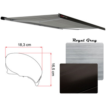 "Fiamma 06880C01R Electric F65 Eagle Case Awning 4.0m (13'9"") - Black Case - Royal Grey Fabric"