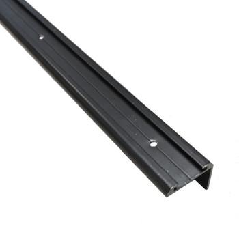 AP Products 021-85202-8 RV Aluminum Long Leg Corner Molding - Black - 8 Ft.