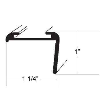 AP Products 021-85202-8 RV Aluminum Long Leg Corner Molding - Black - 8 Ft.