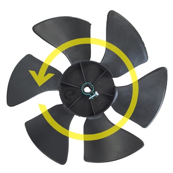 Dometic™ Duo-Therm 3310709.005 OEM Brisk II A/C Condenser Fan Blade