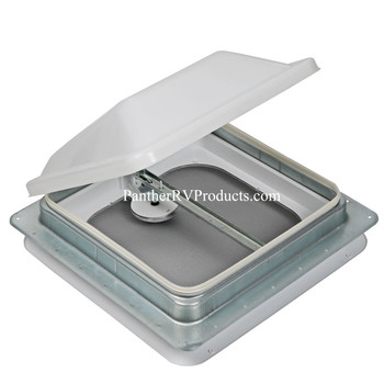 "Ventline V2092SP-28 RV Standard Roof Vent - 14"" x 14"" - White"