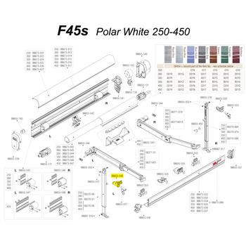 Fiamma® 98655-549 OEM F45S Left Hand Swivel Leg Holder