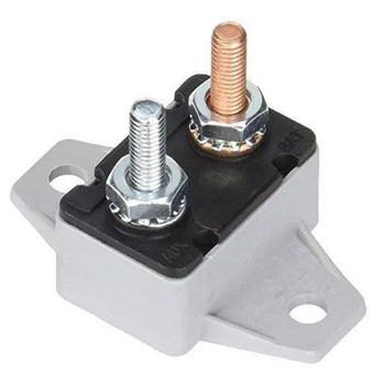 Pollak 54-250PL 50 AMP / 12 V Circuit Breaker with 90 Mounting Bracket