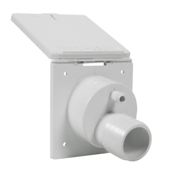Zebra RT145P Square RV Fresh Water Gravity Fill Inlet - White