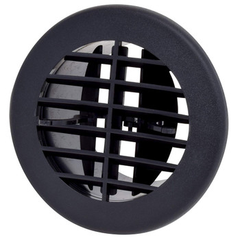 """AP Products A10-3353VP Round Air & Heat Furnace Vent 4"""" - Black"""