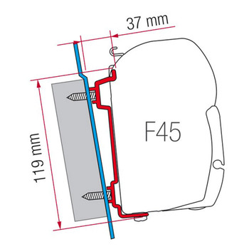 Fiamma 98655-741 F45S Ford Transit Awning Adapter Bracket