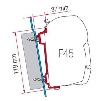 Fiamma 98655-741 F45S Ford Transit Awning Adapter Bracket Kit