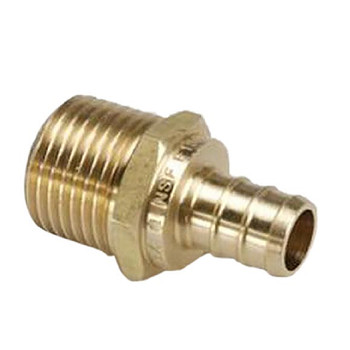 "BestPex 51122 Metal Male Adapter 1/2"" PEX x 1/2"" MPT"