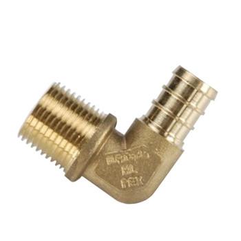 """BestPex 51146 Brass Elbow - 1/2"""" PEX x 1/2"""" MPT"""