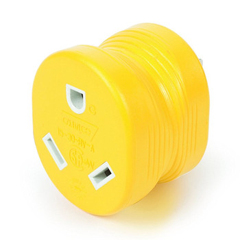 Camco 55223 Power Grip Adapter 15 Amp Male to 30 Amp Female