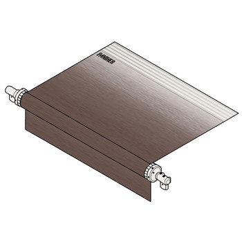 Dometic™ (A&E) 957NS17.000B RV Manual Patio Awning - Sandstone Fabric - White End Caps