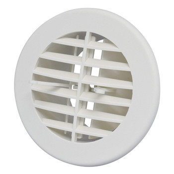 """AP Products A10-3350VP Round Air & Heat Furnace Vent 4"""" - White"""