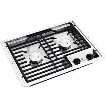 Dometic™ D21-SEC / 50216 RV 2-Burner Propane Cooktop - S/S - Cast Iron Grate
