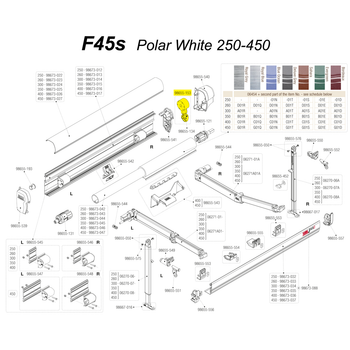 Fiamma 98655-153 OEM F45s Awning Crank Winch Assembly - White