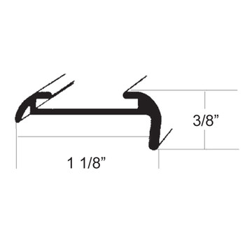 AP Products 021-51602-8 RV Short Leg Aluminum Corner Molding - Black - 8 Ft.