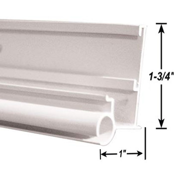 AP Products 021-56301-8 RV Insert Gutter/Awning Rail - White - 8 Ft.