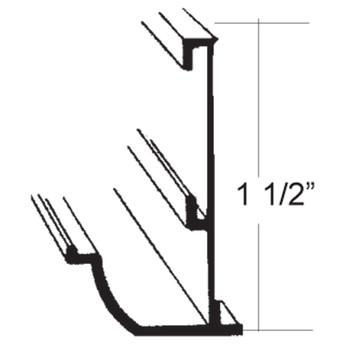 AP Products 021-56202-8 RV Insert Gutter Rail Aluminum Corner Molding - Black - 8 Ft.