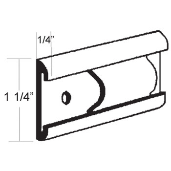 AP Products 021-54601-8 RV Aluminum Flat Trim Molding - Polar White - 8 Ft.