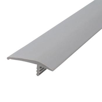 "105-544-125-50 Plywood Edge Plastic Trim T Molding - 1-1/4"" - Grey 50 FT"