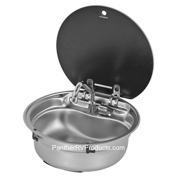 Dometic™ SMEV VA7306US Round Sink w/ Glass Lid and AC542 Faucet