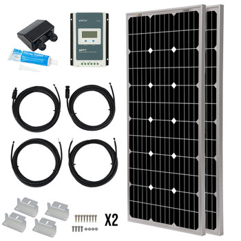 Deluxe Panther 12V Camper Van Off-Grid Solar Panel Package - 200 Watt