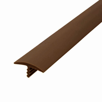 "105-679-315-50 Plywood Edge Plastic Trim T Molding - 3/4"" - Brown - 50 Feet"
