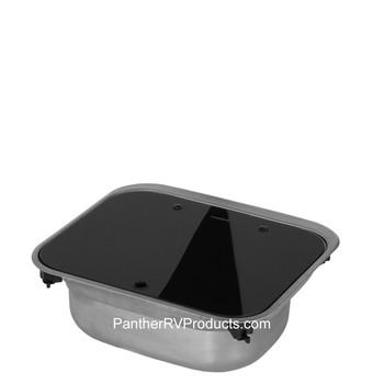 "Dometic™ (SMEV) VA8005 RV Square Kitchen Sink Combo  w/ Glass Lid - 5"""