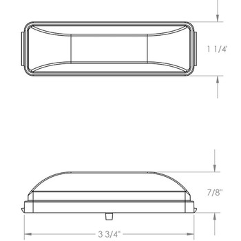 Kaper II 1A-V-1240A  12-Diode LED Marker Light - Amber