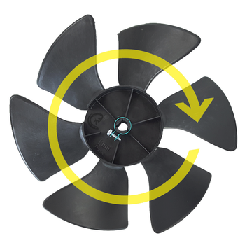 Dometic™ (Duo-Therm) 3313107.015 OEM Brisk A/C Condenser Fan Blade