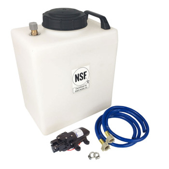 Superior RV Portable Galley Fresh Water Holding Tank w/ External Pump - 7 Gallons